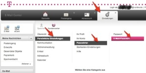 Email-Passwort bei T-Online