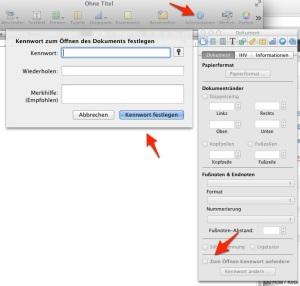 Pages-Dokument mit Schreibschutz versehen