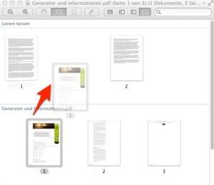 Kopieren einer Seite in ein anderes Dokument