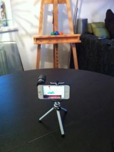 Aufbau - fotografiert mit iPhone 4